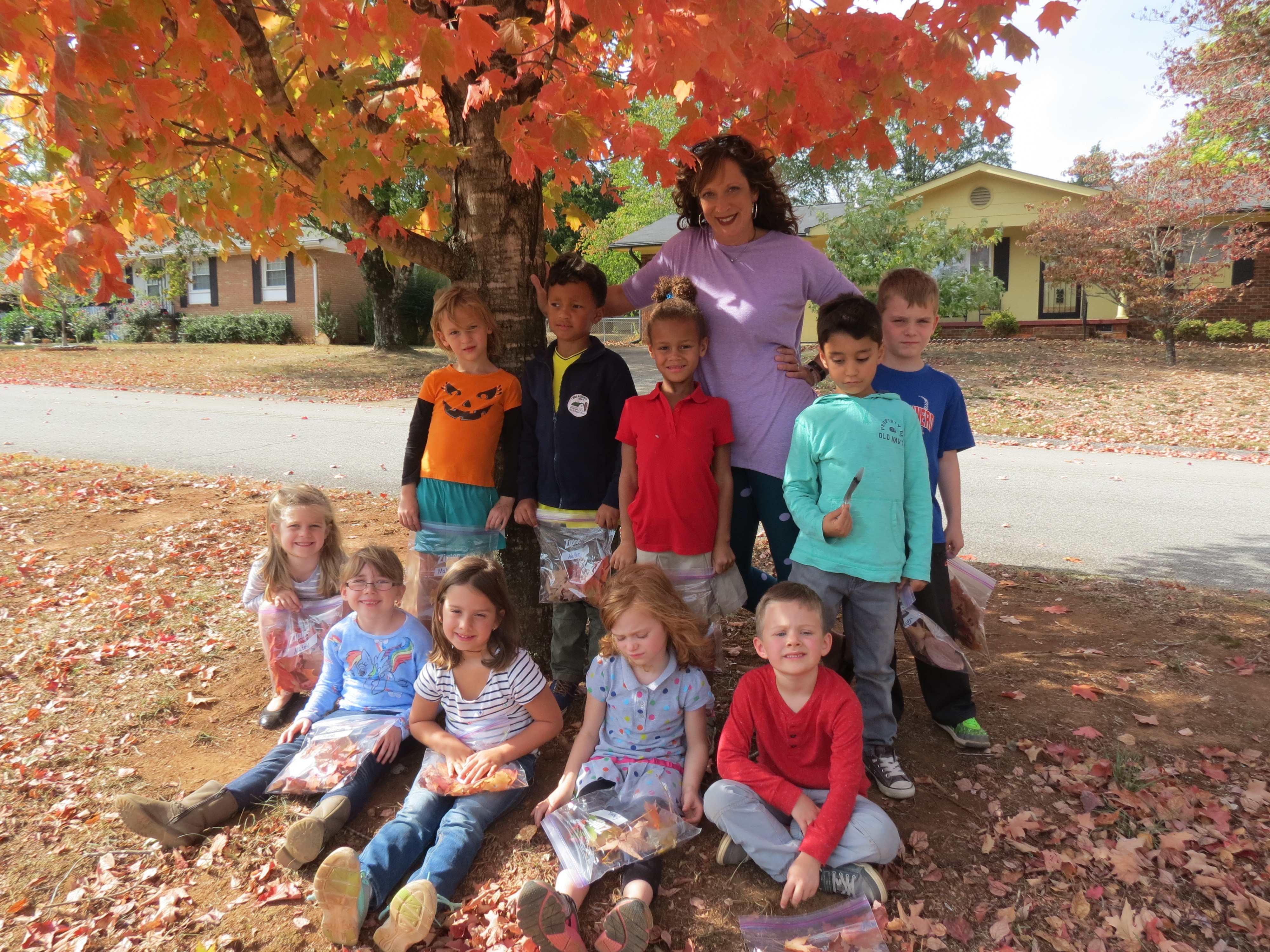 K5 Learns about Fall Y'all